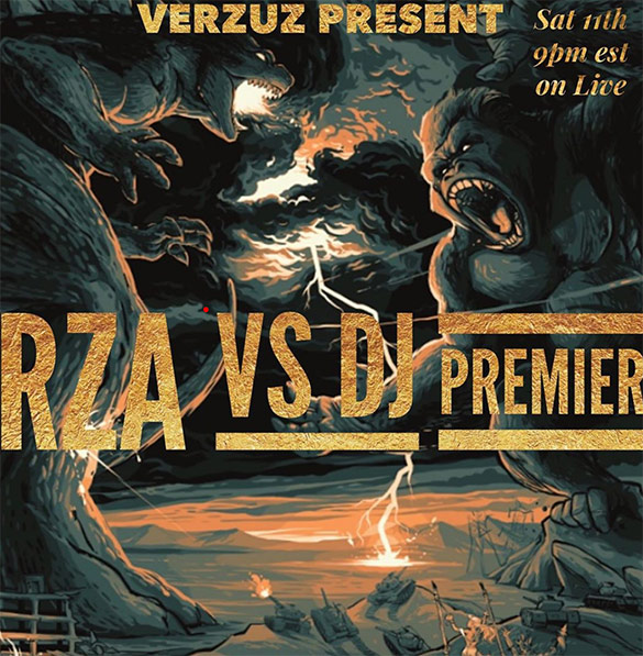 Affiche battle hiphop rza vs DJ premier