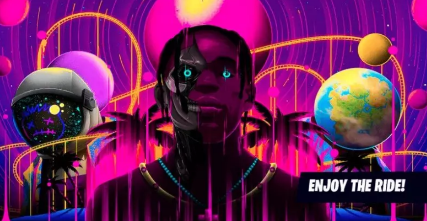 Affiche du concert de Travis scott sur Fortnite